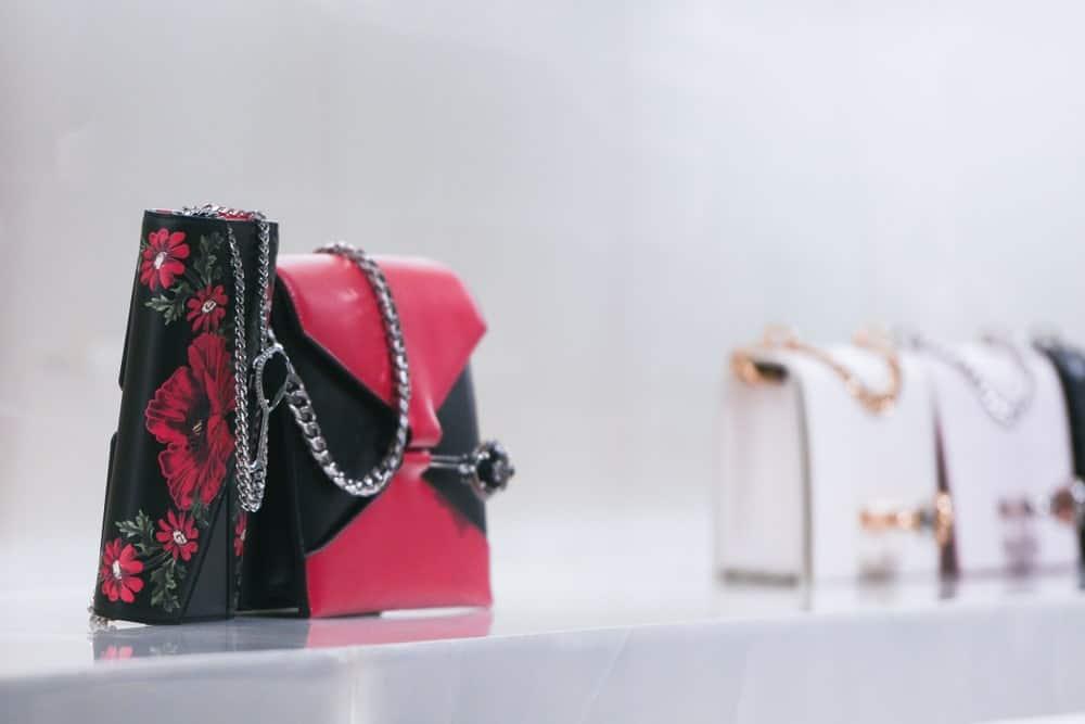 Alexander McQueen handbag in a store in Paris.