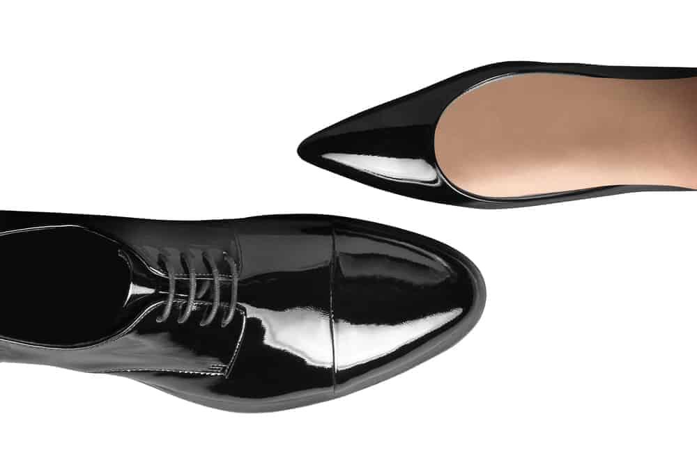 Black women's and men's dress shoes