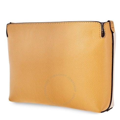 Burberry clutch belt bag beige/yellow Mrais Lth Bicol medium clutch