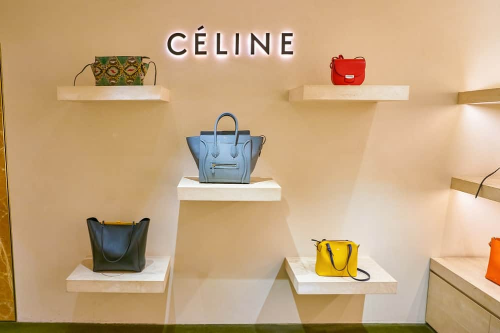 Celine bags on display at Rinascente.