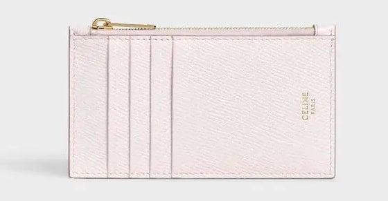 Céline pink leather card holder