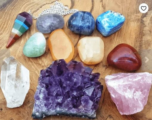 A variety of colorful gemstones from Etsy.