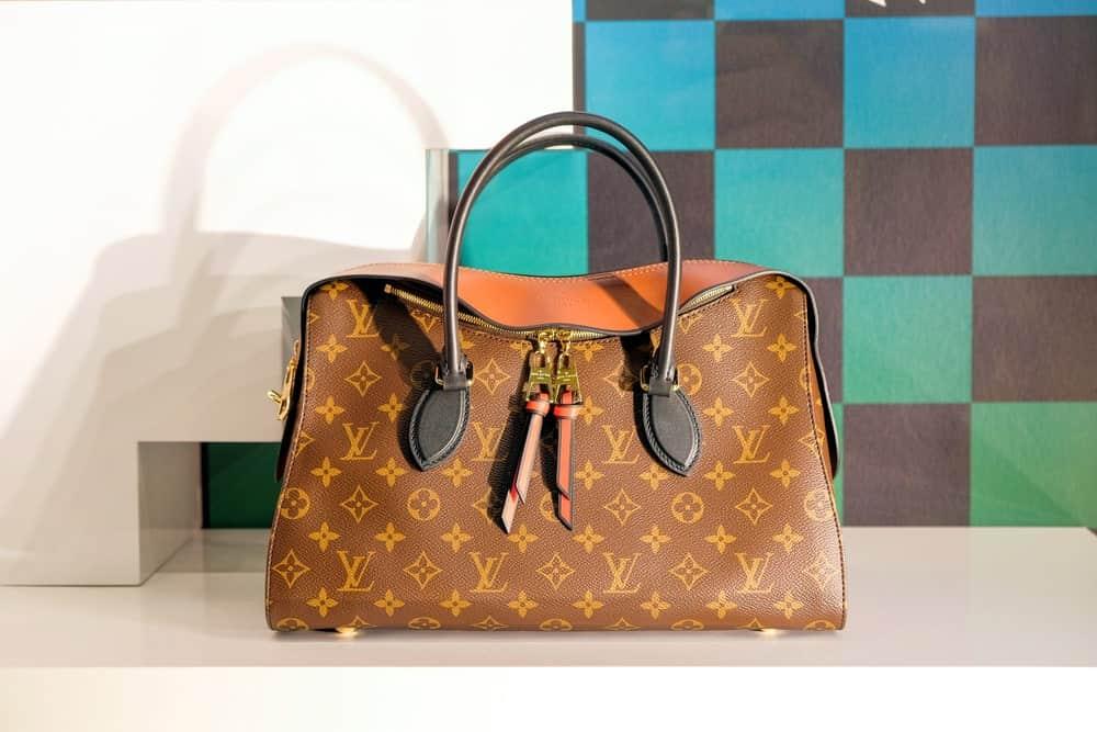 Louis Vuitton bag in a showcase at Siam Paragon shopping mall.