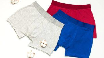 A set of colorful men's underwear.