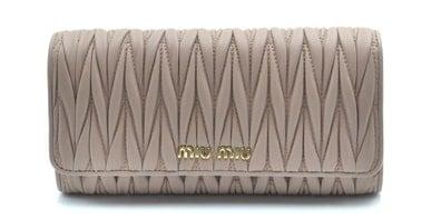 Miu Miu grey leather wallet