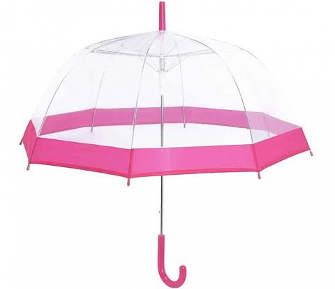 A look at a bubble umbrella with pink accent.