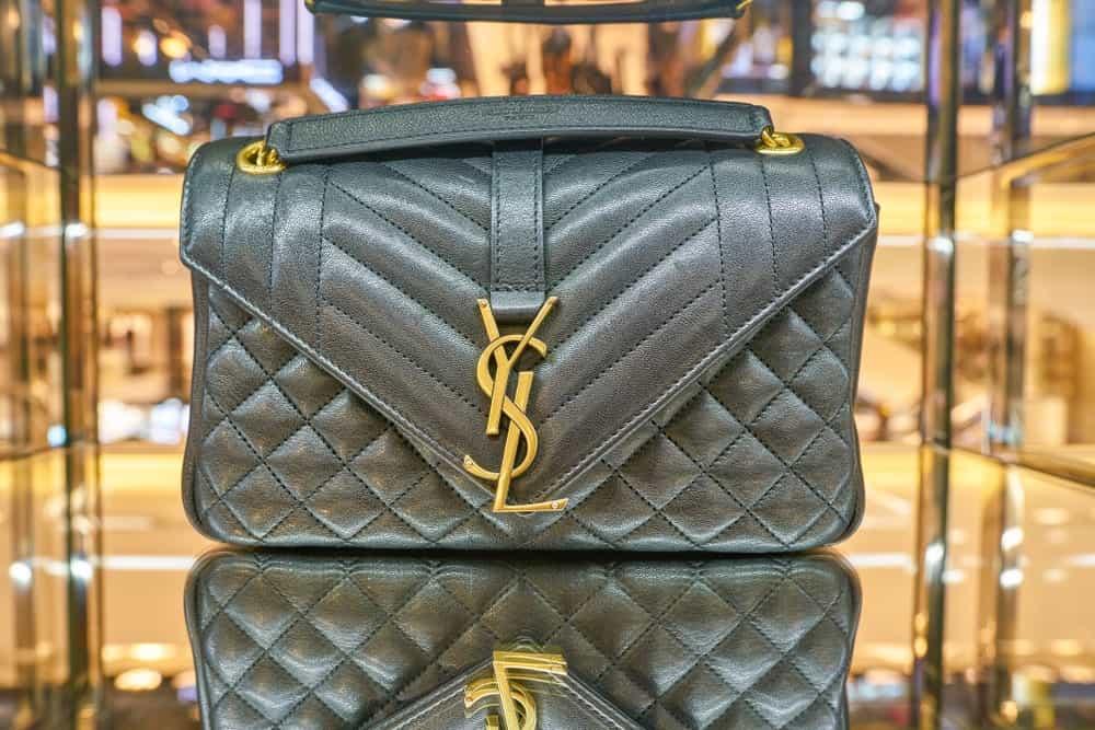 Yves Saint Laurent bag on display at Rinascente.