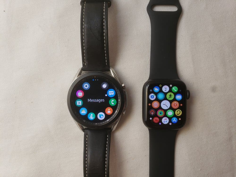 Samsung Galaxy Watch3 vs Apple Watch Series 5 apps