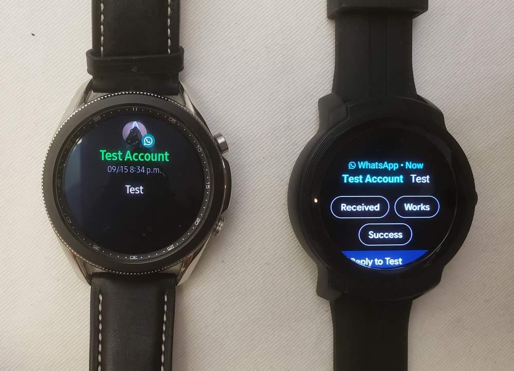 Samsung Galaxy Watch3 vs Ticwatch E2 texting
