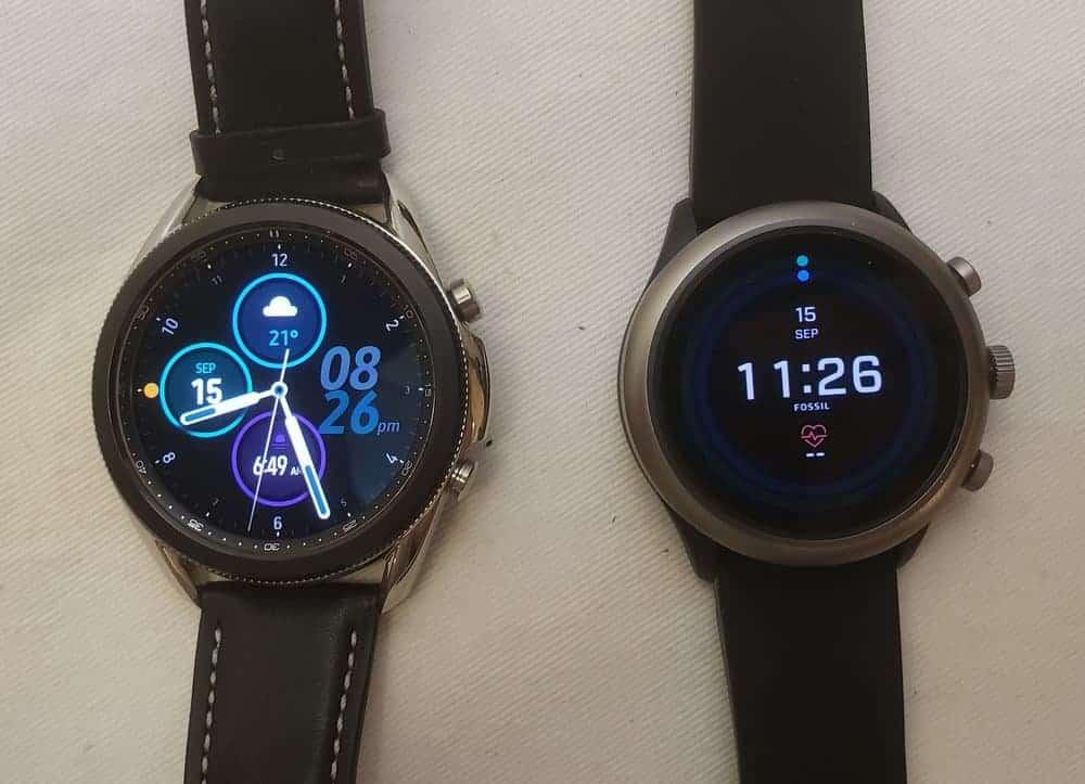 samsung galaxy watch3 vs fossil sport smartwatch