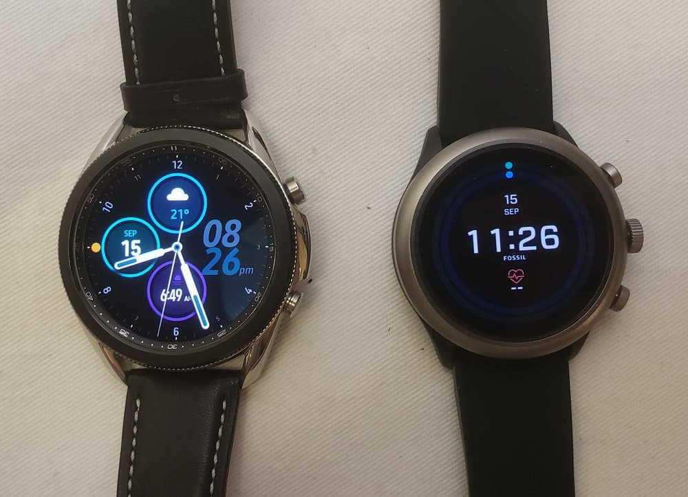 Samsung Galaxy Watch3 vs Fossil Sport Smartwatch main screen