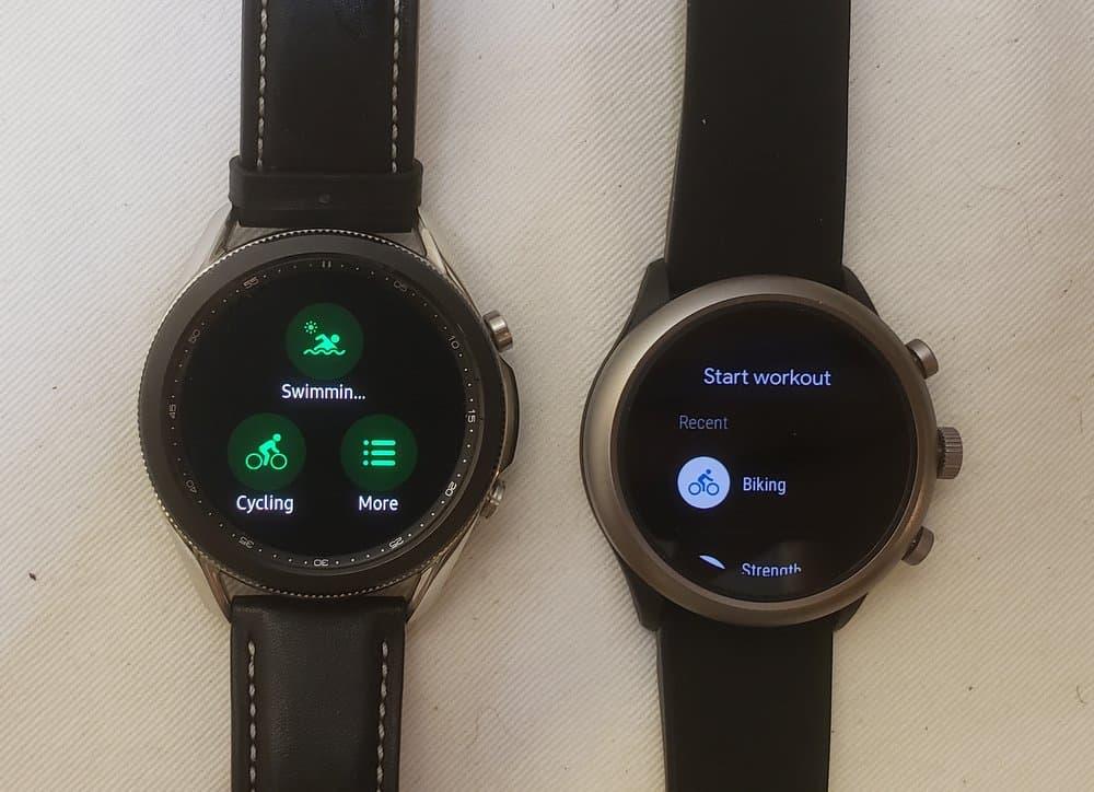 Samsung Galaxy Watch3 vs Fossil Sport Smartwatch sports