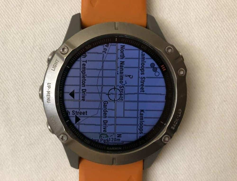 Samsung Galaxy Watch3 vs Garmin Fenix 6 maps