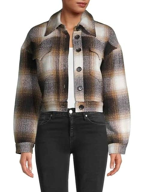 The Avec Les Filles Faux Fur-Lined Cropped Plaid Jacket from Saks.