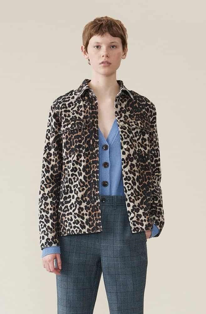The Denim Leopard Print Shirt from Ganni.