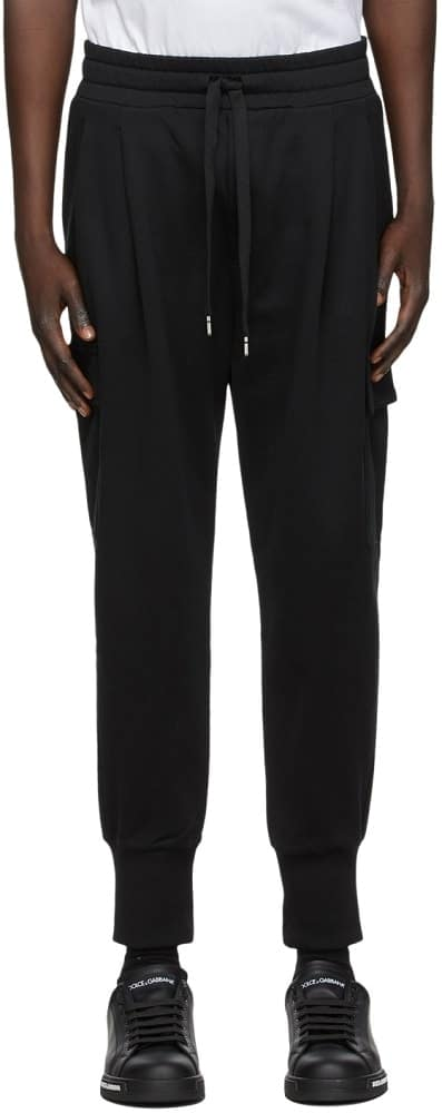 Dolce and Gabbana Black Embroidered Cargo Pants from SSense.