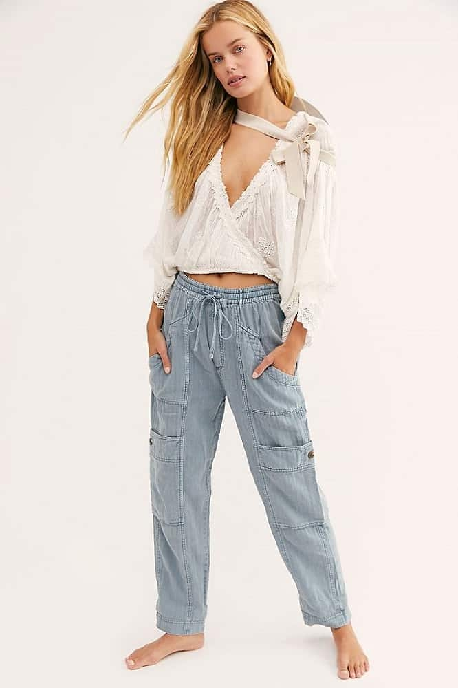 Feelin Good Utility Puul on Pants from Free People.