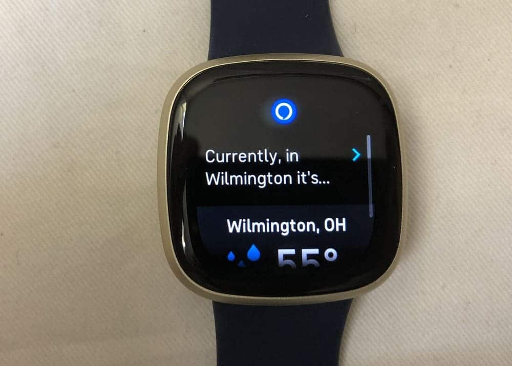fitbit versa 3 alexa wrong location