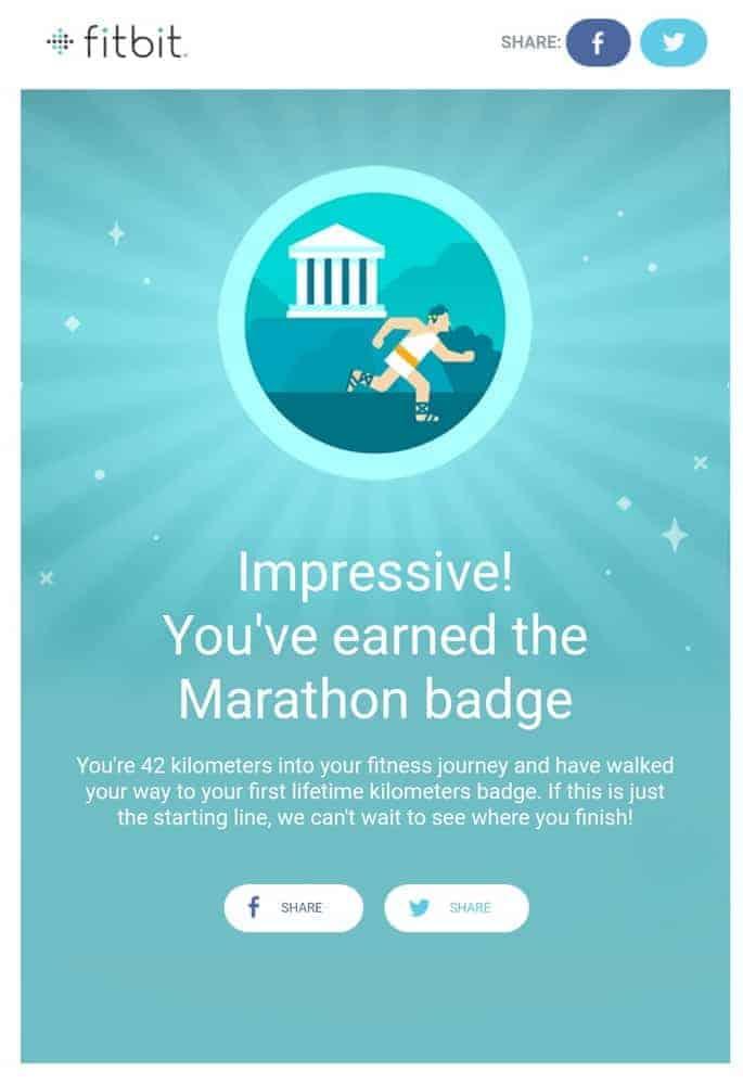fitbit sense marathon badge