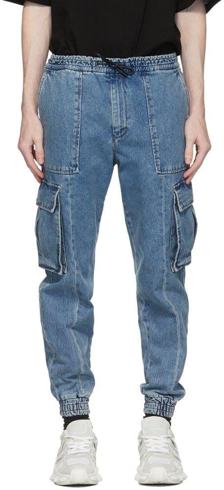 Juunj Blue Denim Cargo Pants from Ssense.