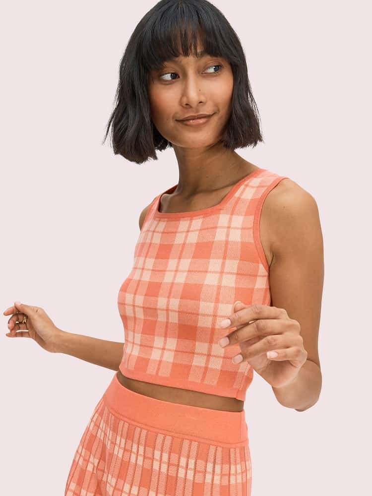 Plaid sleeveless sweater from Kate Spade.