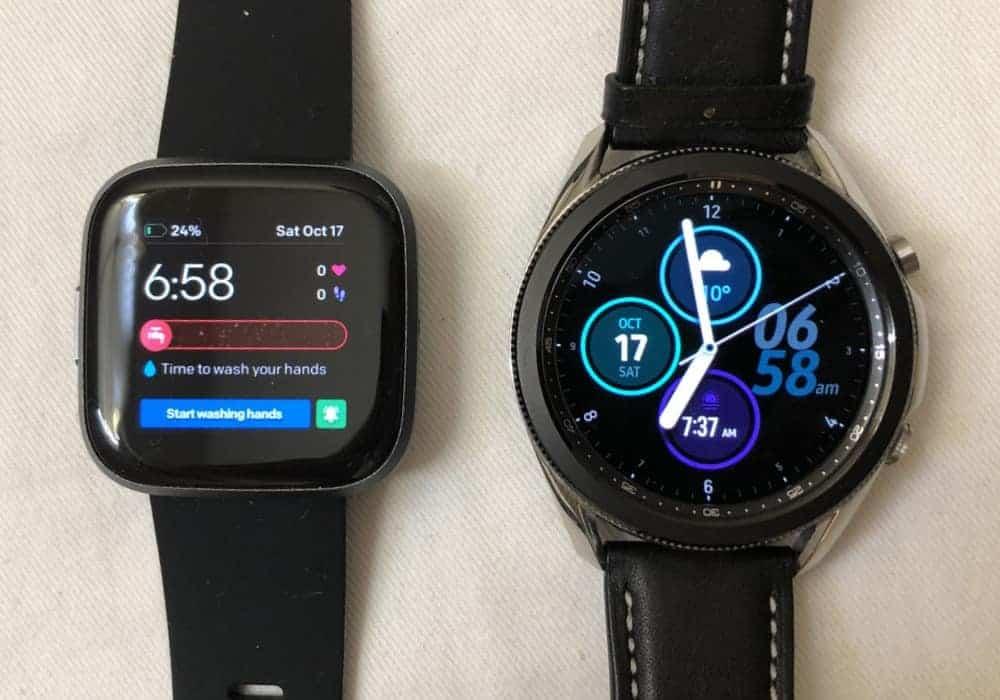 samsung galaxy watch3 vs fitbit versa 2 watch faces