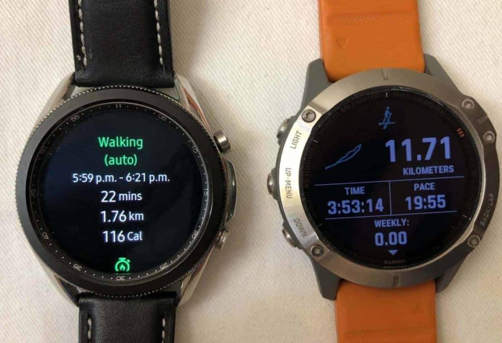 Samsung Galaxy Watch3 vs Garmin Fenix 6 sports