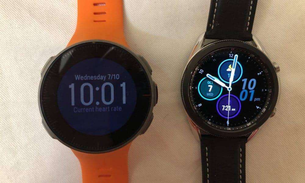 Samsung Galaxy Watch3 vs Polar Vantage V main screen