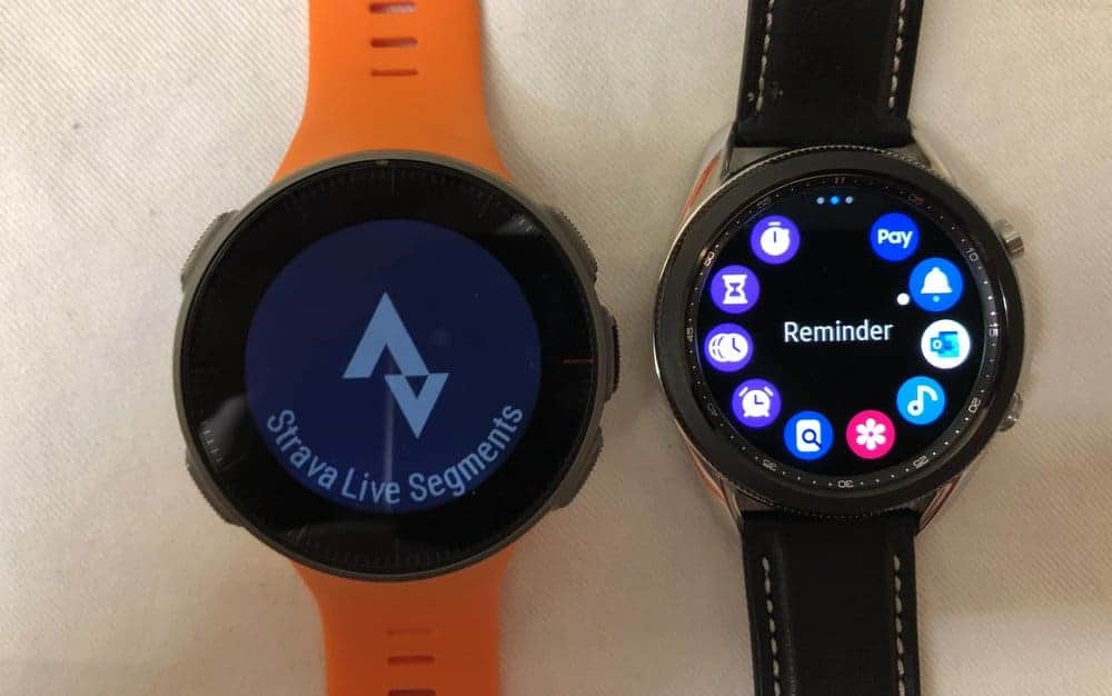 Samsung Galaxy Watch3 vs Polar Vantage V apps