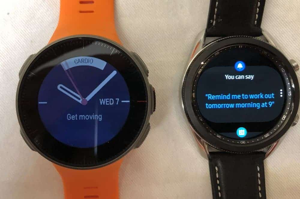 Samsung Galaxy Watch3 vs Polar Vantage V voice assistant bixby