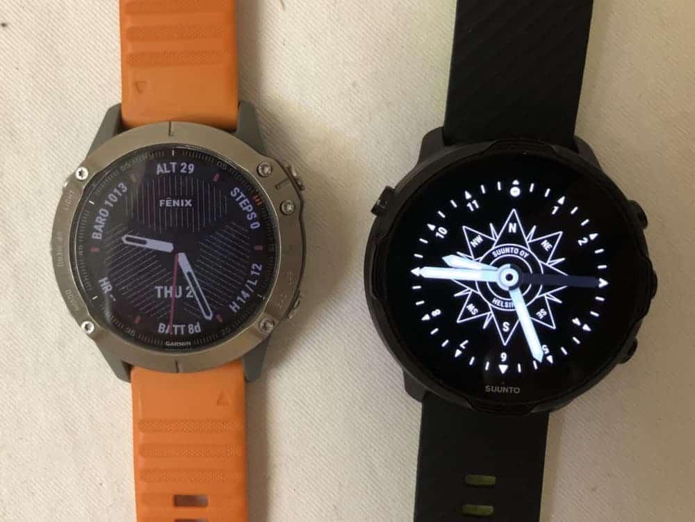 suunto 7 vs garmin fenix 6 watch faces