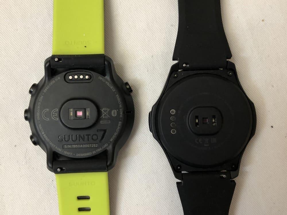 Suunto 7 vs Ticwatch S2 heart rate sensor
