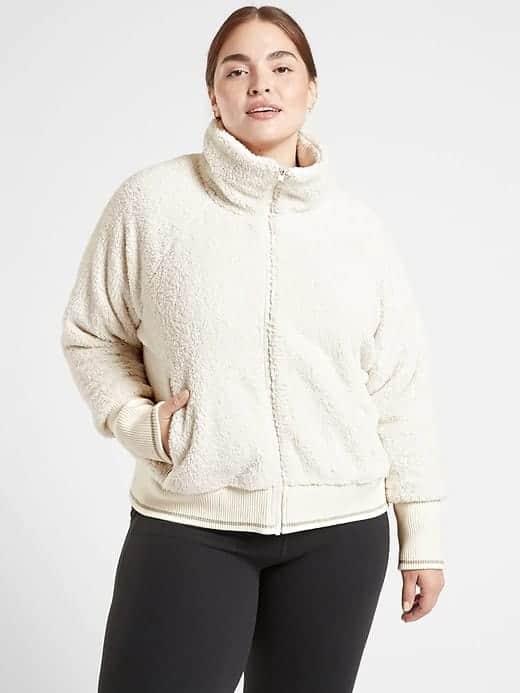 The Tugga sherpa jacket from Athleta.