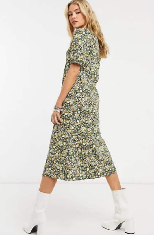 Vila Button Front Midi Dress from Asos.