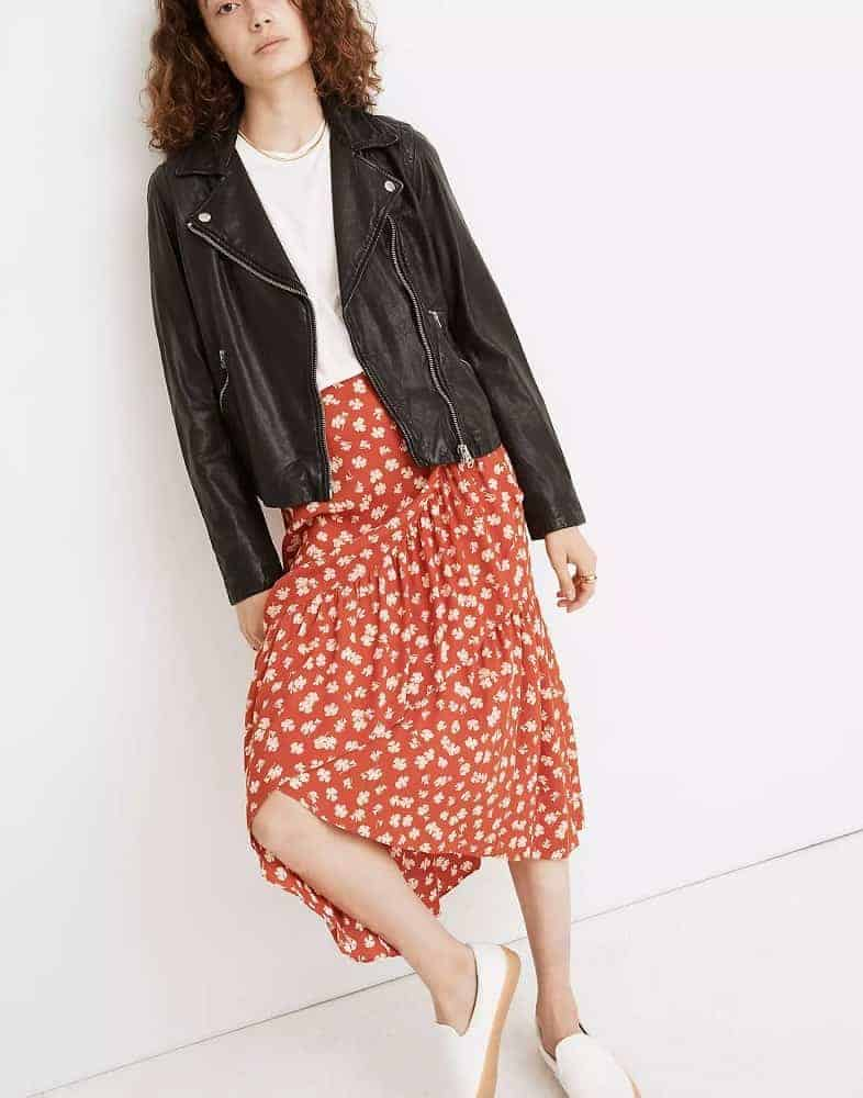 Women's Washed Leather Motorcycle Jacket from Madewell.