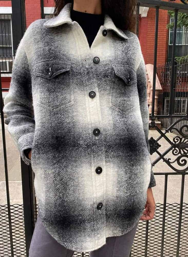 The Wilfred Free Ganna Wool Jacket from Aritzia.
