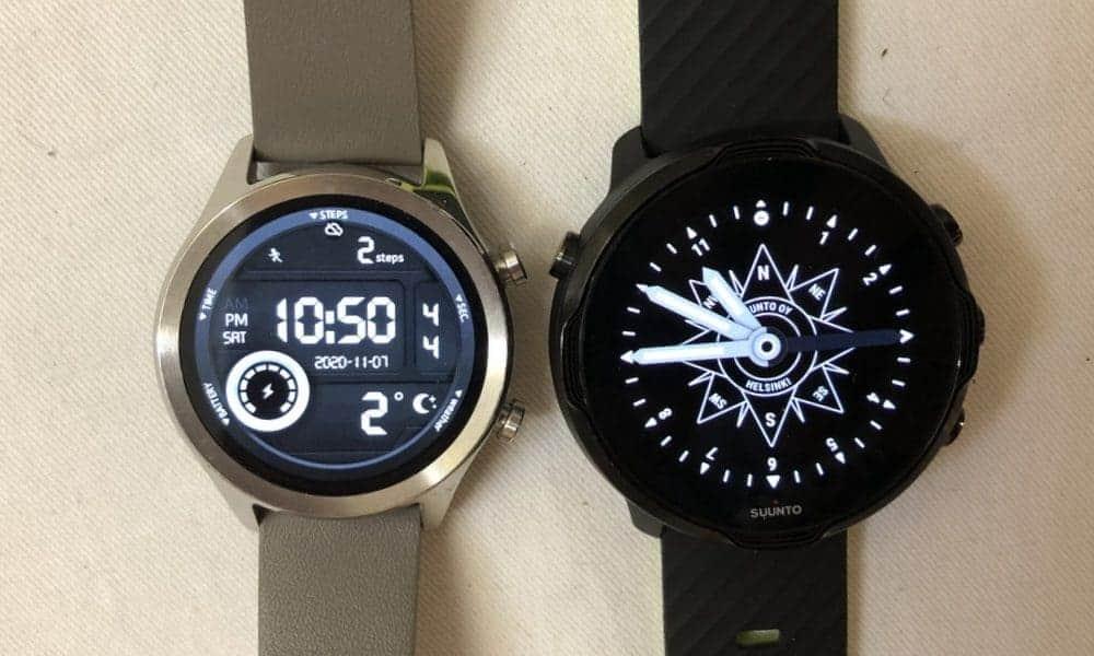Suunto 7 vs Ticwatch C2 main screen