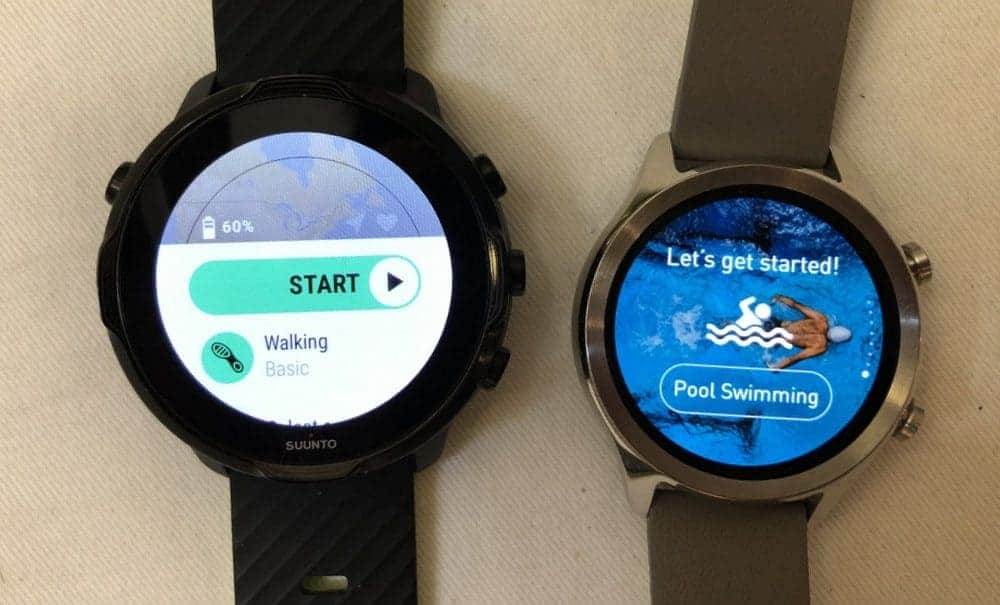 Suunto 7 vs Ticwatch C2 sports