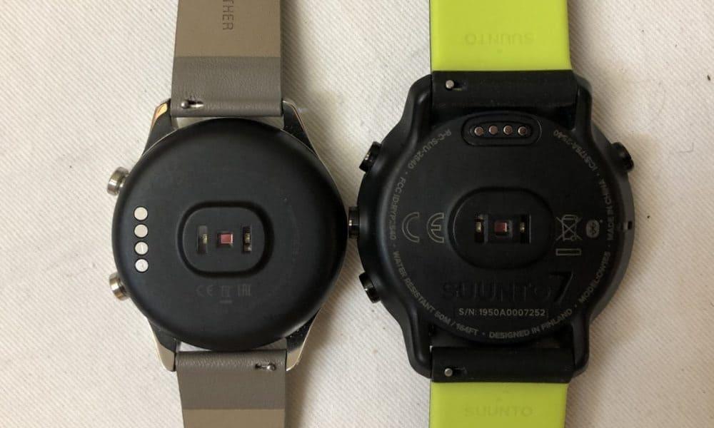 Suunto 7 vs Ticwatch C2 rear