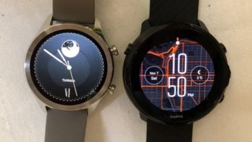 Suunto 7 vs Ticwatch C2 watch face