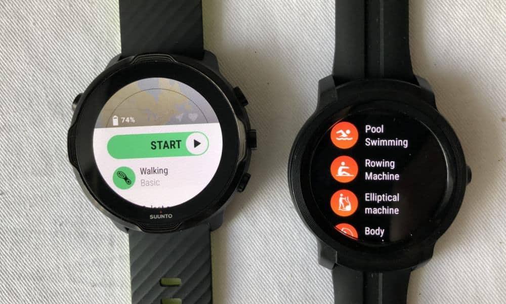 Suunto 7 vs Ticwatch E2 workout