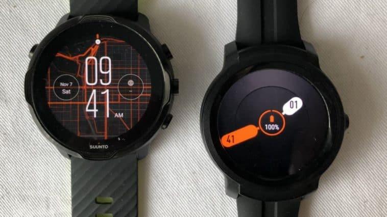 Suunto 7 vs Ticwatch E2 main screen