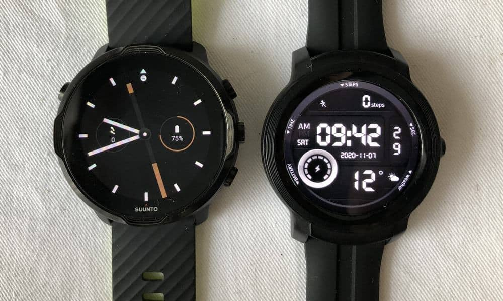 Suunto 7 vs Ticwatch E2 watch faces