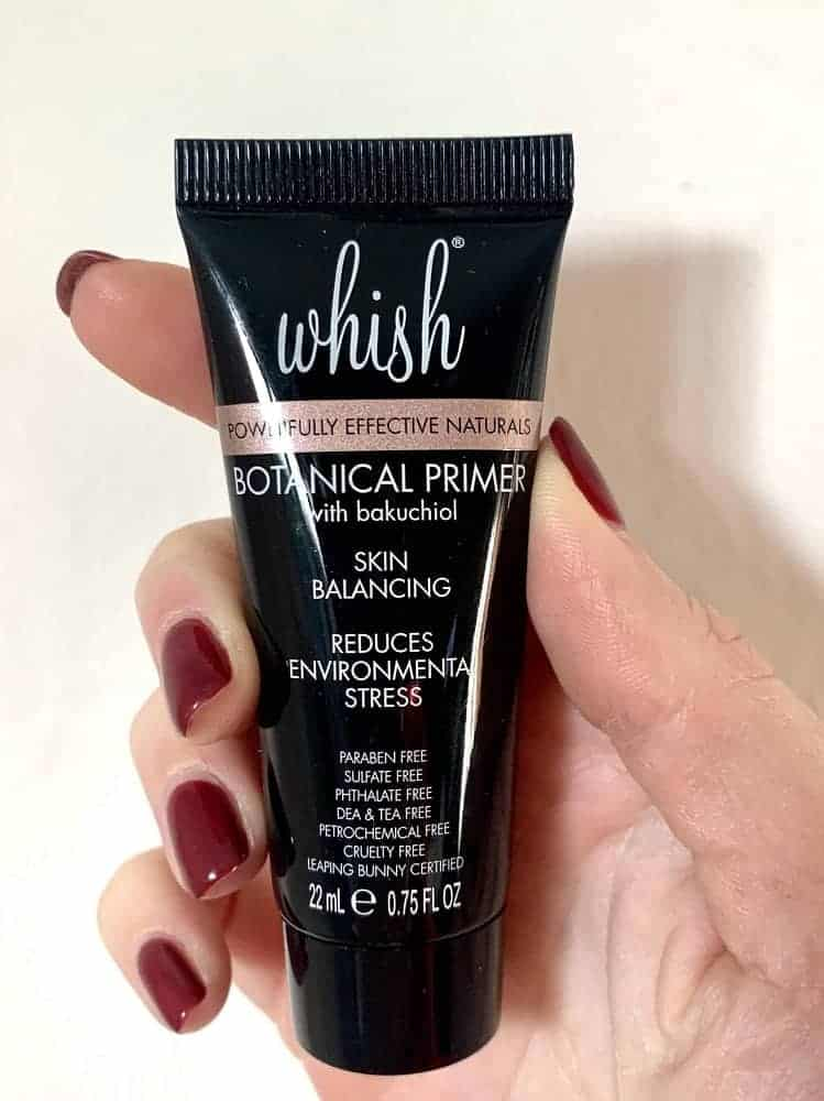 A close look at Whish botanical primer from Allure beauty box.