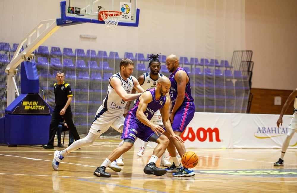 Basketball match of Ukrainian Superleague Parimatch.