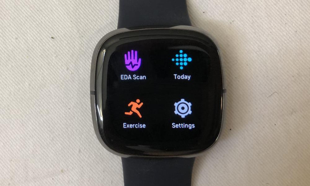 fitbit sense apps menu