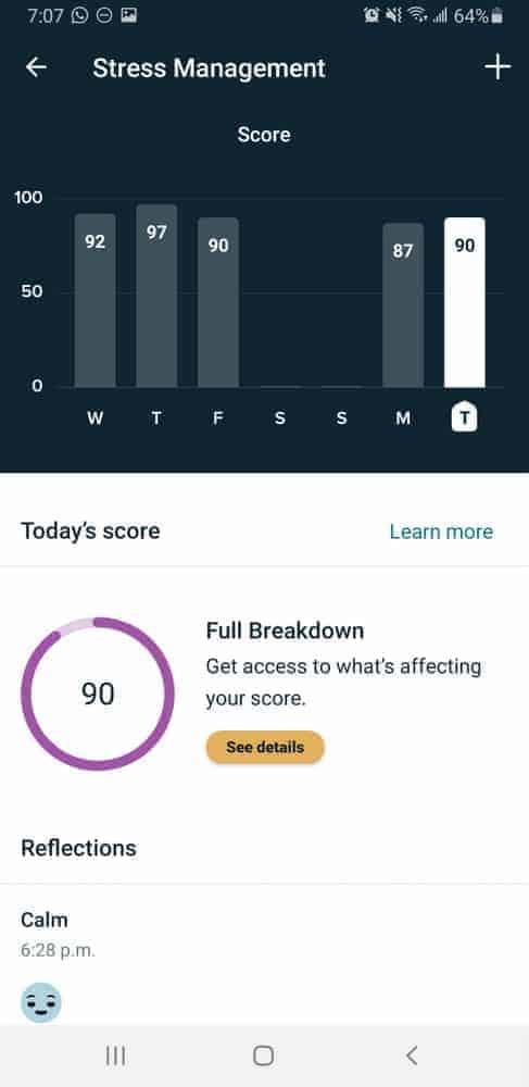 fitbit sense stress tracking