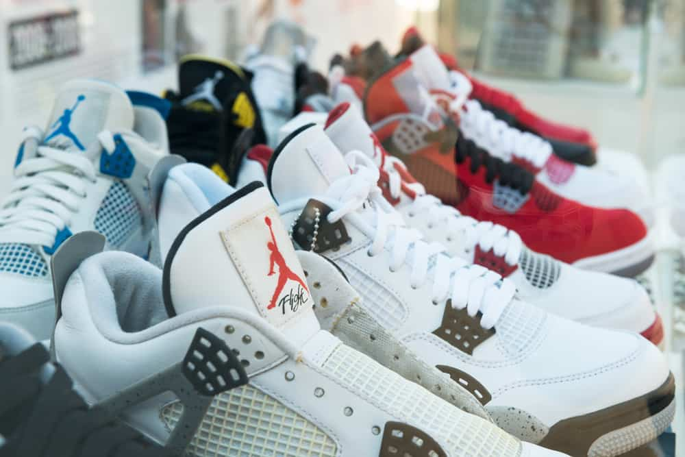 Display of basketball shoes during Youth Festival Faces & Laces.