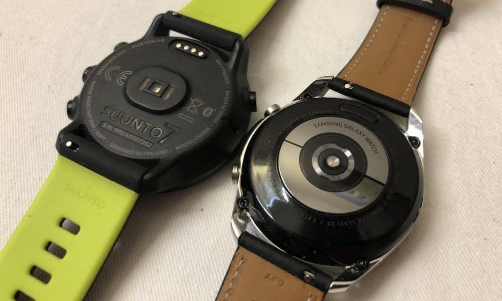 Suunto 7 vs Samsung Galaxy Watch3 heart rate sensor