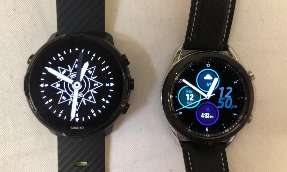 Suunto 7 vs Samsung Galaxy Watch3 watch faces